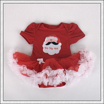 Hot Sale Infant Short Sleeve Ro Baby Cute Girls and Kids Christmas Gift Cotton Lace Dress Clothes Tide Winter mance Clothing