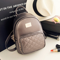Fashion Backpack Female College Student Satchel Mini Backpack Ladies