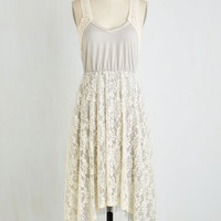 Boho Long Sleeveless A-line Crochet it on the Line Dress