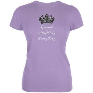 Queen of Everything Lavender Juniors Soft T-Shirt