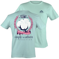 Simply Southern Preppy Royalty Of The South Cotton Bright T-shirt