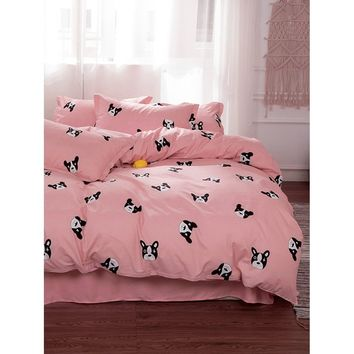 Dog Print Sheet Set