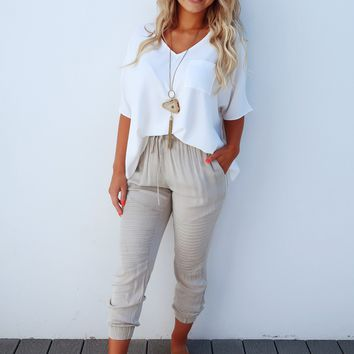 Restock: Face The Day Blouse: Ivory