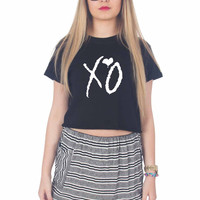 XO the weeknd For Womens Crop Shirt ***