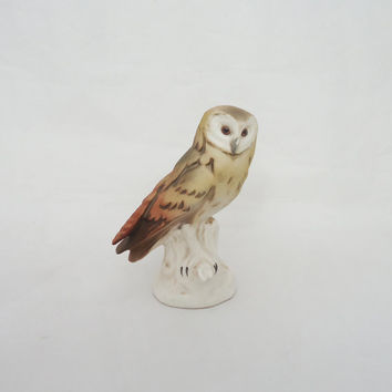 Vintage Goebel Owl Figurine, West Germany Owl Figurine, Miniature Owl Porcelain Owl
