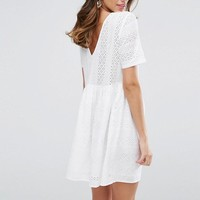 ASOS Smock Dress in Lace at asos.com