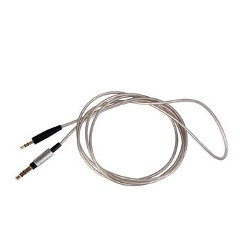 Top Quality Upgrade Replacement silver Audio Cable Wire For Sennheiser HD200 HD210 270 490 495 500 570 headphones headset