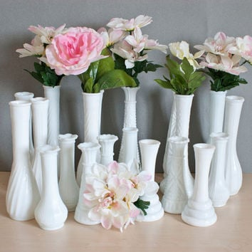 Best White Milk Glass Vases Products On Wanelo