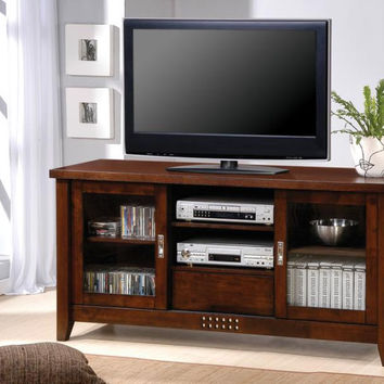 Coaster Fine Furniture Tv Console Warm Brown 700619