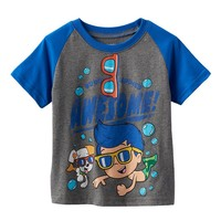 Bubble Guppies Gil & Bubble Puppy Raglan Tee - Toddler Boy, Size: