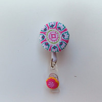 Lanyard Retractable Id Badge Holder, Fabric covered