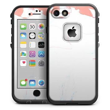 Marbleized Coral and Mint v1 - iPhone 7 LifeProof Fre Case Skin Kit