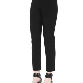 Women's Washable Stretch-Crepe Ankle Pants, Black, Petite - Eileen Fisher - Black (PL (14/16))