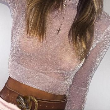 Sheer Vanay Crop Top