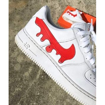 DRIP Custom Air Force 1 red big splash