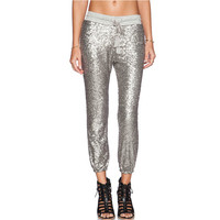 fashion spring autumn fashion new shiny silver sequined ladies casual pantyhose pant Europe Spring 2015