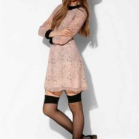 Little White Lies Printed Collared Dress- Pink