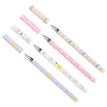 SLIM BALLPOINT PEN 4PK: CUTE