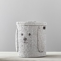 Puppy Shaped Wicker Hamper