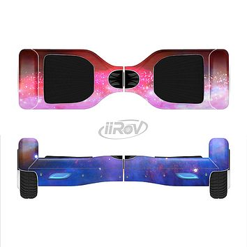 The Vivid Pink and Blue Space Full-Body Skin Set for the Smart Drifting SuperCharged iiRov HoverBoard