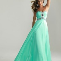 Glamorous Strapless Prom Gown by Night