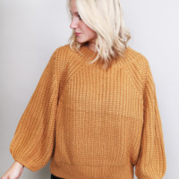 Ring My Bell Sweater {Mustard Yellow}