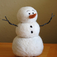 Needle Felting kit Needle Felted Snowman by BearCreekDesign