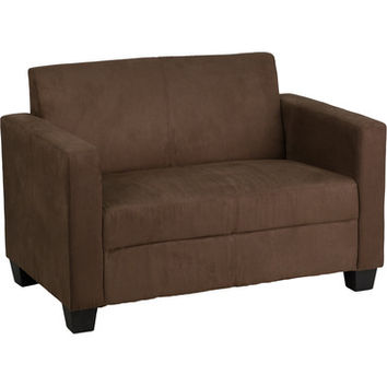 Flash Furniture Grand Series Chocolate Brown Microfiber Loveseat