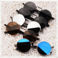 Retro Steampunk Round Circle Sunglasses