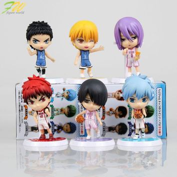(6pcs/lot)Action figure Kuroko no Basket cute lovely cartoon doll PVC 6cm box-packed japanese figurine anime 160193