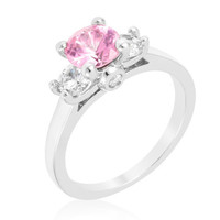 Mini Pink Ice CZ Triplet Ring