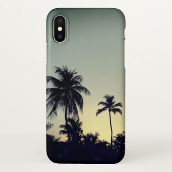 Palm Tree Tropical Sunset iPhone X Phone Case