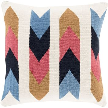 Cotton Kilim Throw Pillow Brown, Gray