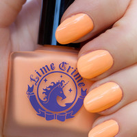 PEACHES ♥ CREAM pastel orange nail polish