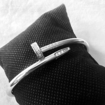 Cartier Just Un Clou Bracelet, White Gold And Diamond. Great Condition