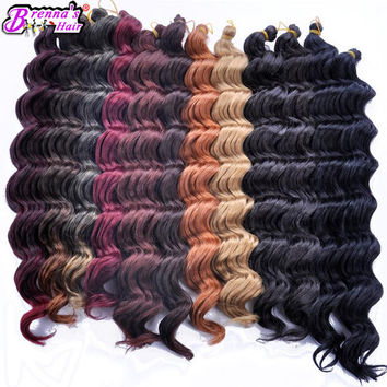 Black women hair style freeshipping synthetic weave loose wave italian curly braiding hair extension 18inch news hairstyle for salon beauty