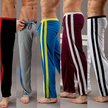 Men's Breathable Comfort Tether Pants Tousers for Training Dance Baggy Jogging yoga [9305643911]