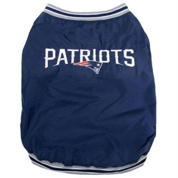 DCCKOP9 New England Patriots Pet Sideline Jacket