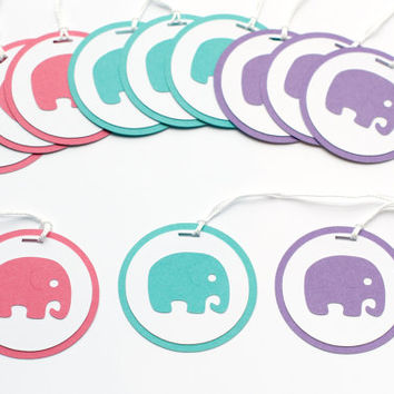 Elephant Baby Shower, Baby Shower Favor Tags, Baby Shower Decor, Elephant Birthday Party, Girl Baby Shower, Girl Birthday Party, Baby Girl