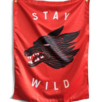 Stay Wild Flag Tapestry