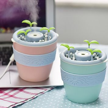 Cute Mini Ceramic USB Air Anion Humidifier Essential Oil Aroma Diffuser Home Office SPA Mist Maker Fogger Air Purifier