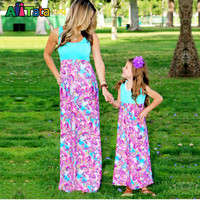 Mother daughter dresses paisly