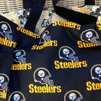 Pittsburgh Steelers Diaper Bag Custom Tote Bag Purse Football, Shopping Bag, lined, web straps, NFL, picnic, sports, School Book Bag