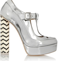 Sophia Webster - Dolly metallic leather Mary Jane platform pumps