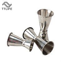 TTLIFE 2017 Hot sale 30/40/50 ml High Quality Stainless Steel Cocktail Jigger Bar Measuring Cup Japanese Style Bar Tools
