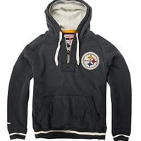 Pittsburgh Steelers Mitchell & Ness Vintage Field Goal 1/2 Zip Hoodie - Official Online Store