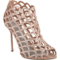 Sergio Rossi Crystal Cutout Sandal | Barneys New York