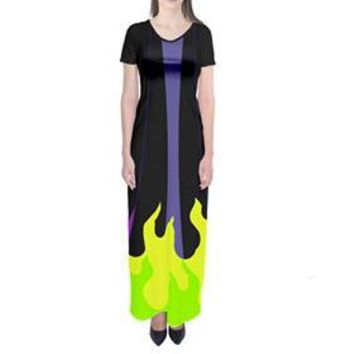 Maleficent Sleeping Beauty Inspired Short Sleeve Maxi Dress