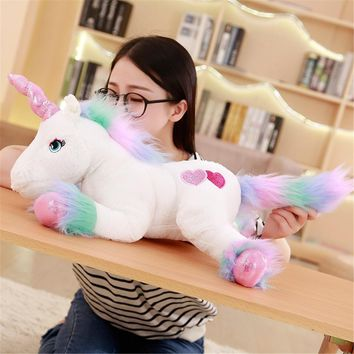 50cm New unicorn plush toy unicorn doll cute animal stuffed unicornio soft pillow baby kids toy for girl birthday christmas gift