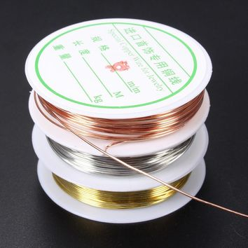 0.3/0.4/0.6/0.8mm Plated Copper Wire Beads Jewelry Making DIY Craft Honey